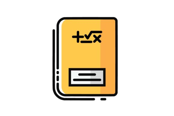 Math Bookline Icon Graphic By Home Sweet