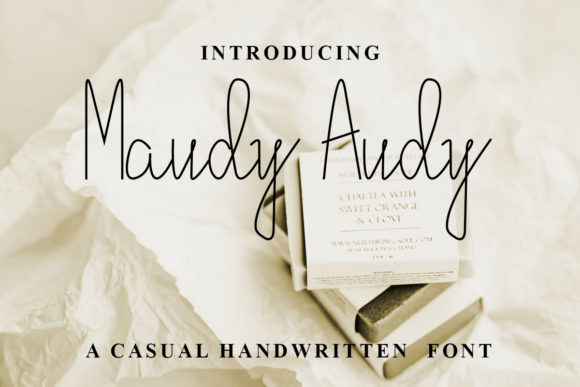 Maudy Audy Font By dennysutanto060393 Image 1
