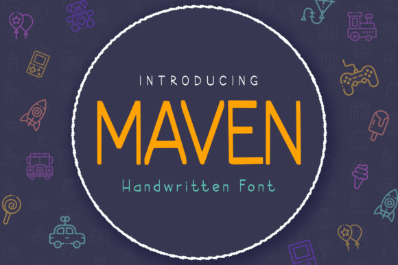 Print on Demand: Maven Sans Serif Font By peterdraw