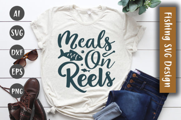 Print on Demand: Meals on Reals SVG Design Graphic Crafts By CreativeArt
