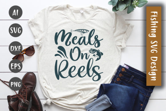 Print on Demand: Meals on Reels SVG Design Graphic Crafts By CreativeArt