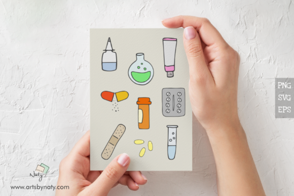 Print on Demand: Medical Hand-Drawn SVG Vector Pack Graphic Illustrations By artsbynaty - Image 2