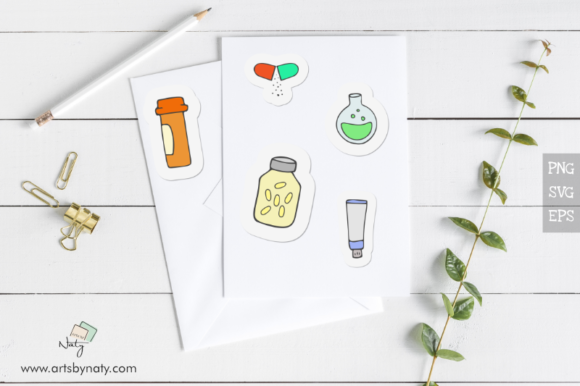 Print on Demand: Medical Hand-Drawn SVG Vector Pack Graphic Illustrations By artsbynaty - Image 3