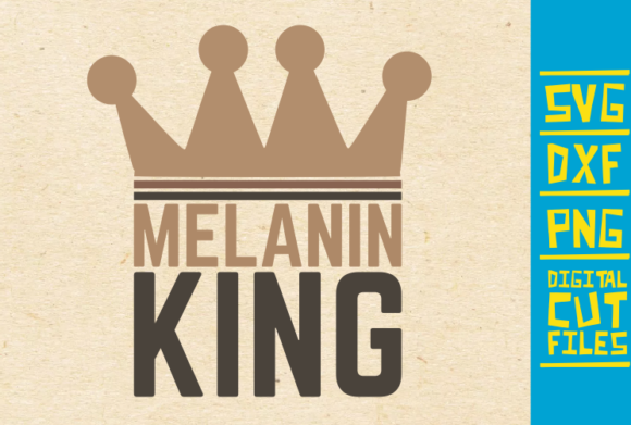 Download Free Melanin King Afro Man Vector Crown Graphic By Svgyeahyouknowme for Cricut Explore, Silhouette and other cutting machines.