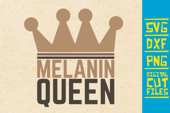 Download Free Melanin Queen Black Girl Magic Graphic By Svgyeahyouknowme for Cricut Explore, Silhouette and other cutting machines.