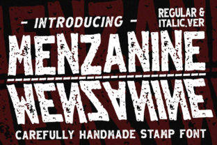 Print on Demand: Menzanine Display Font By dmletter31