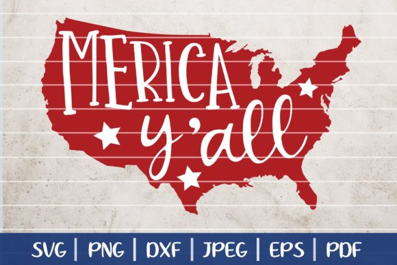 Download Free Merica Y All Svg 4th Of July Svg Graphic By Seventhheaven for Cricut Explore, Silhouette and other cutting machines.