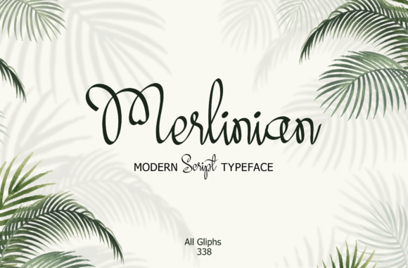 Print on Demand: Merlinian Script & Handwritten Font By emanesdsign