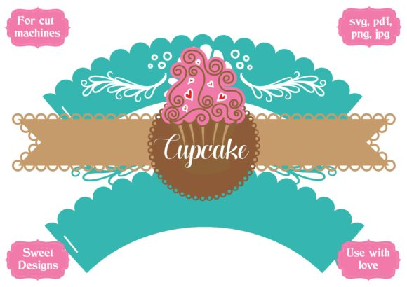 Download Free Mermaid Cupcake Wrapper Graphic By Jgalluccio Creative Fabrica for Cricut Explore, Silhouette and other cutting machines.