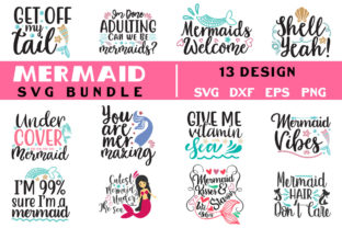 Mermaid Bundle Graphic Crafts By SVGstore