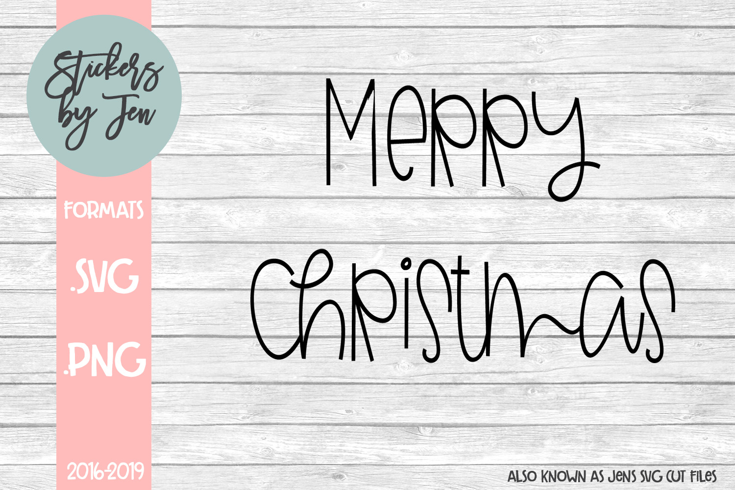 Download Free Merry Christmas Graphic By Stickers By Jennifer Creative Fabrica for Cricut Explore, Silhouette and other cutting machines.