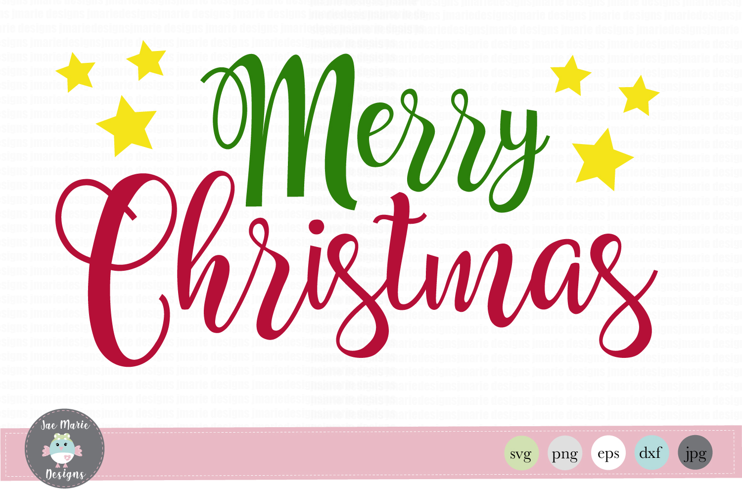 Download Free Merry Christmas Graphic By Thejaemarie Creative Fabrica for Cricut Explore, Silhouette and other cutting machines.