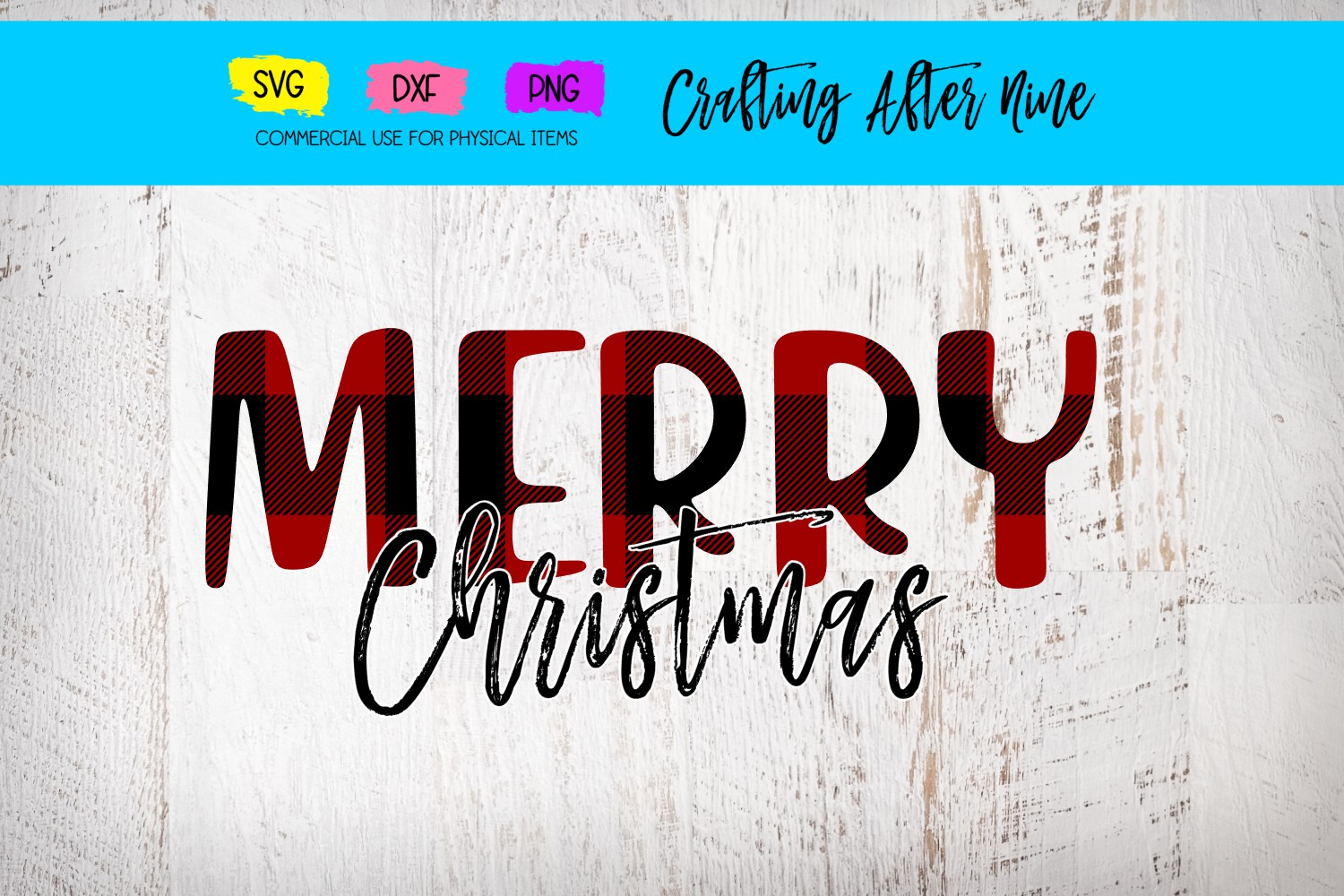 Download Free Merry Christmas Graphic By Crafting After Nine Creative Fabrica for Cricut Explore, Silhouette and other cutting machines.