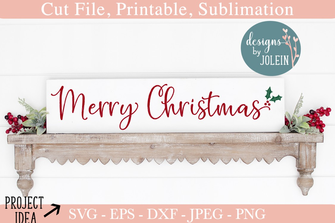 Download Free Merry Christmas Grafico Por Designs By Jolein Creative Fabrica for Cricut Explore, Silhouette and other cutting machines.