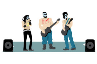 Metal Rock Band Craft Design By Creative Fabrica Crafts