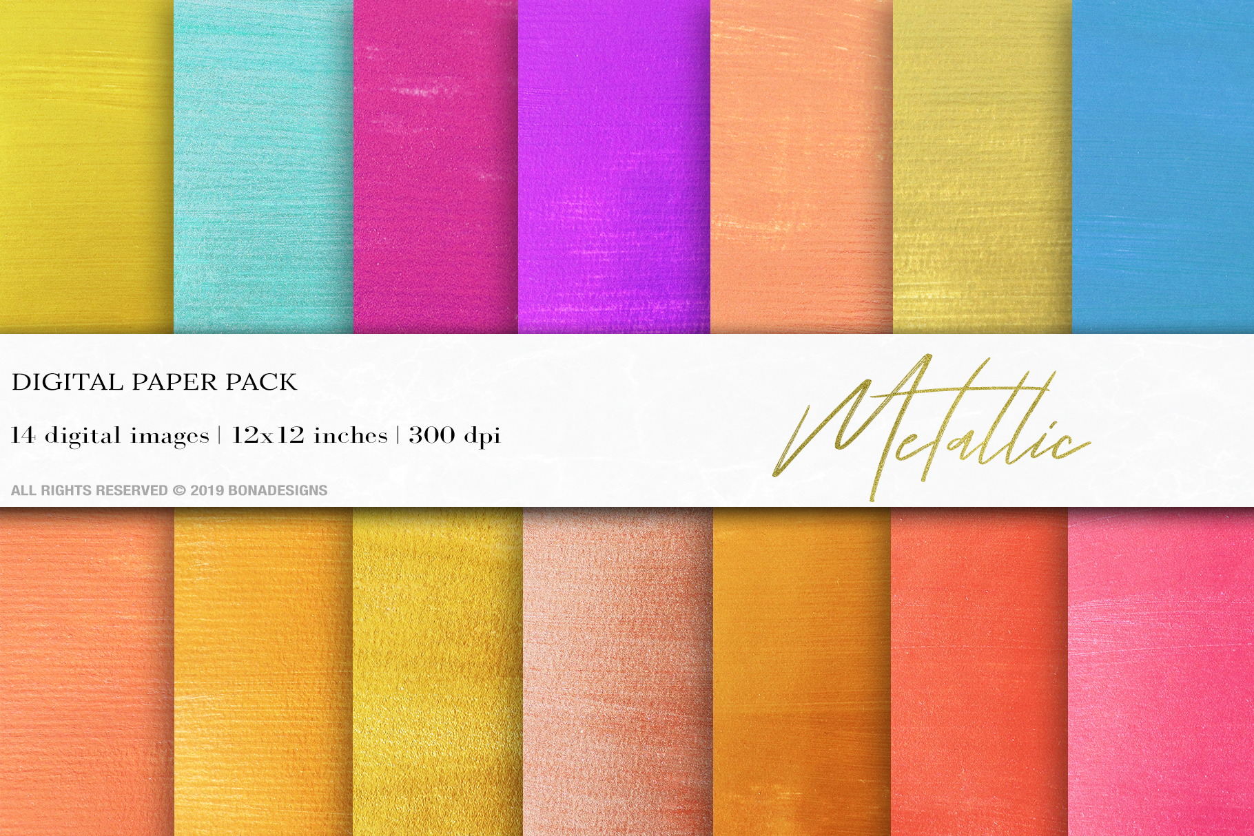 Download Free Metallic Digital Paper Gold Background Graphic By Bonadesigns for Cricut Explore, Silhouette and other cutting machines.