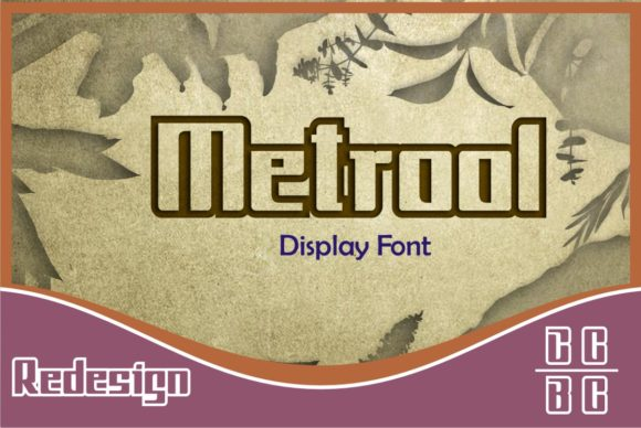 Print on Demand: Metrool Display Font By emanesdsign