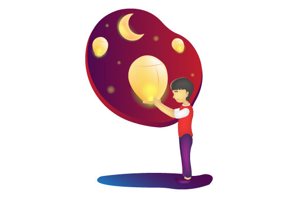 Print on Demand: Mid Autumn Festival Cute Character Graphic Illustrations By iop_micro