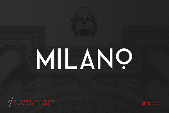 Print on Demand: Milano Display Font By unio.creativesolutions - Image 1