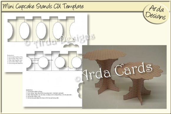 Print on Demand: Mini Cupcake Stands CU Template Graphic Print Templates By Arda Designs - Image 1