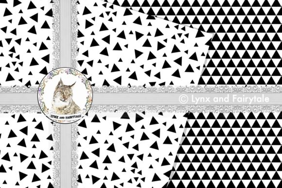 Download Free Minimalist Black White Triangle Patterns Grafico Por Lynx And for Cricut Explore, Silhouette and other cutting machines.