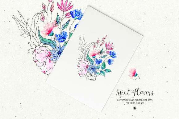 Mint Flowers Graphic Illustrations By webvilla - Image 3