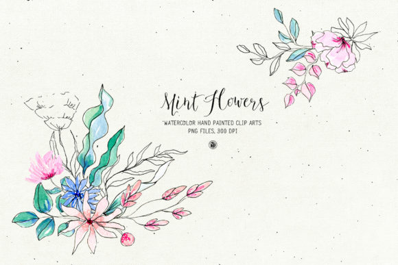 Mint Flowers Graphic Illustrations By webvilla - Image 4