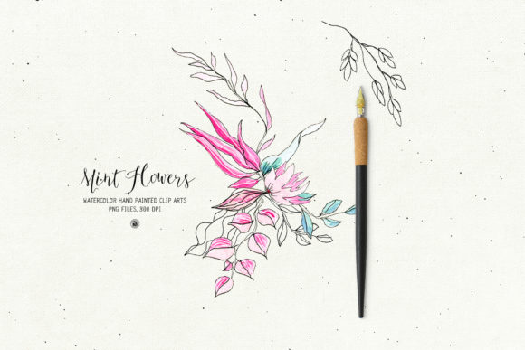 Mint Flowers Graphic Illustrations By webvilla - Image 5