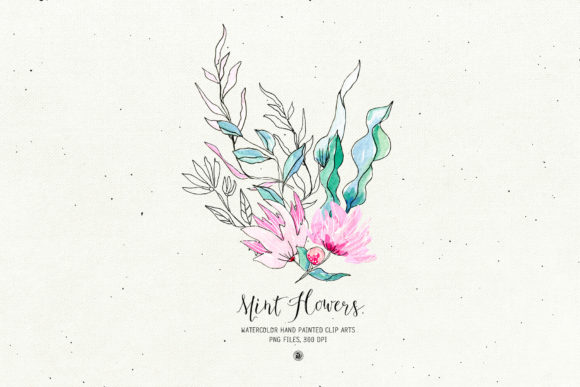 Mint Flowers Graphic Illustrations By webvilla - Image 6