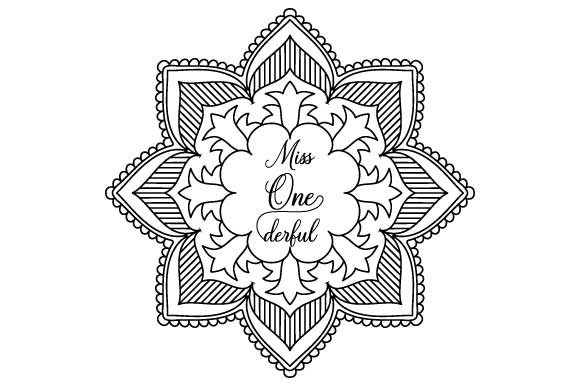 Print on Demand: Miss Onederful Coloring Page Graphic Coloring Pages & Books Adults By GraphicsFarm