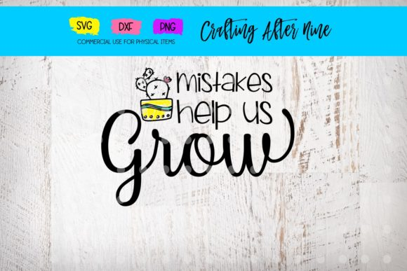 Print on Demand: Mistakes Help Us Grow Graphic Crafts By Crafting After Nine