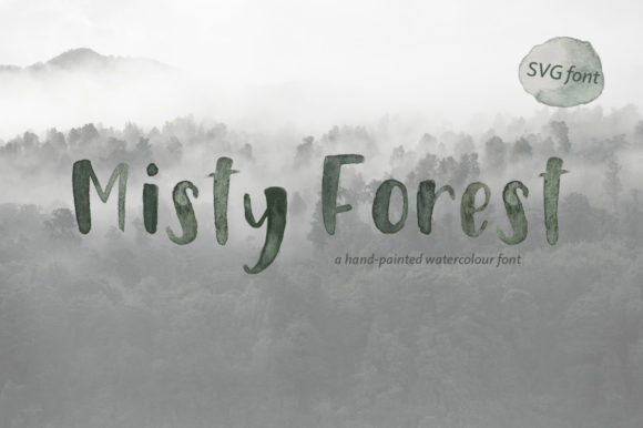 Print on Demand: Misty Forest Color Fonts Font By Jennifer Chow