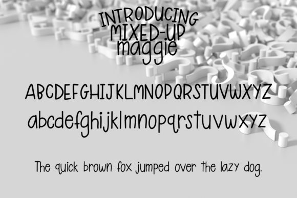 Mixed-Up Maggie Font By tabitha_beam Image 2