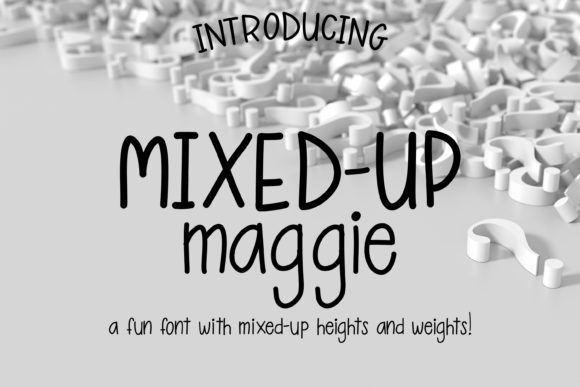 Mixed-Up Maggie Sans Serif Font By tabitha_beam