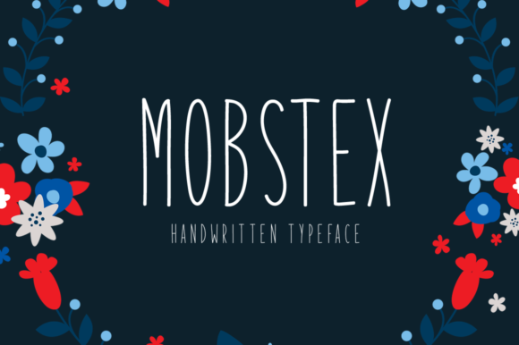 Print on Demand: Mobstex Display Font By Shattered Notion