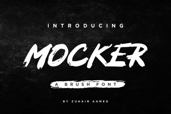 Print on Demand: Mocker Display Font By ZHR Creative