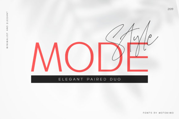 Print on Demand: Mode Style Duo Script & Handwritten Font By motokiwo