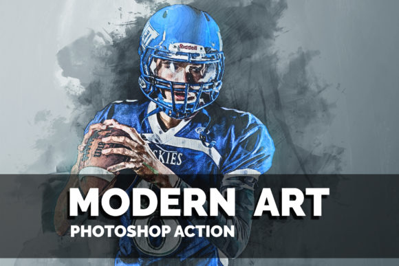 Download Free Modern Art Photoshop Action Graphic By Jubair Haider Creative for Cricut Explore, Silhouette and other cutting machines.