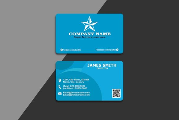 Download Free Modern Business Card Graphic By Polahdesign Creative Fabrica for Cricut Explore, Silhouette and other cutting machines.