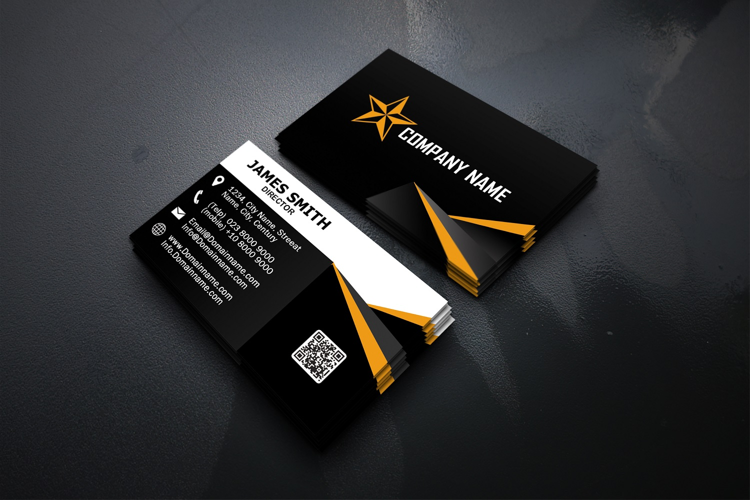 Modern Business Cards Template (Graphic) by polahdesign ...