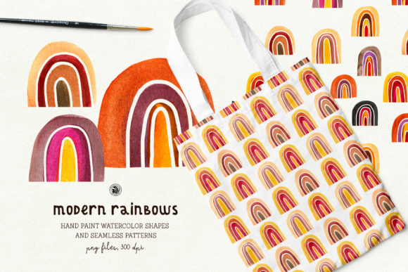 Modern Rainbows Patterns Graphic Patterns By webvilla