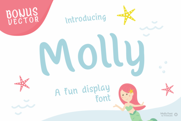 Print on Demand: Molly Display Font By Trim Studio