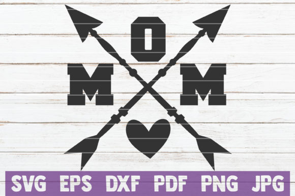 Download Free Mom Crossed Arrows Svg Cut File Graphic By Mintymarshmallows for Cricut Explore, Silhouette and other cutting machines.