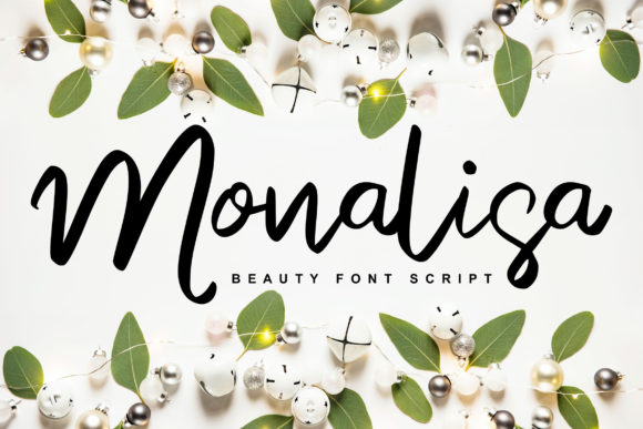 Print on Demand: Monalisa Script & Handwritten Font By Vunira