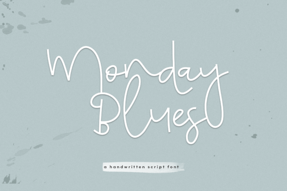 Print on Demand: Monday Blues Script & Handwritten Font By KA Designs