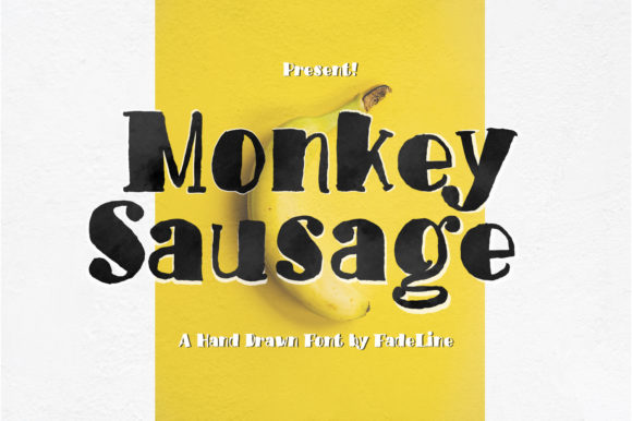 Print on Demand: Monkey Sausage Display Font By FadeLine