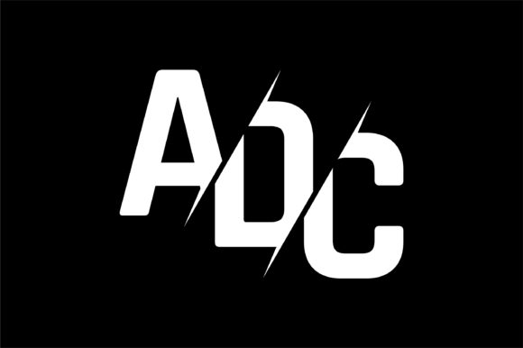 Download Free Monogram Adc Logo Design Graphic By Greenlines Studios for Cricut Explore, Silhouette and other cutting machines.