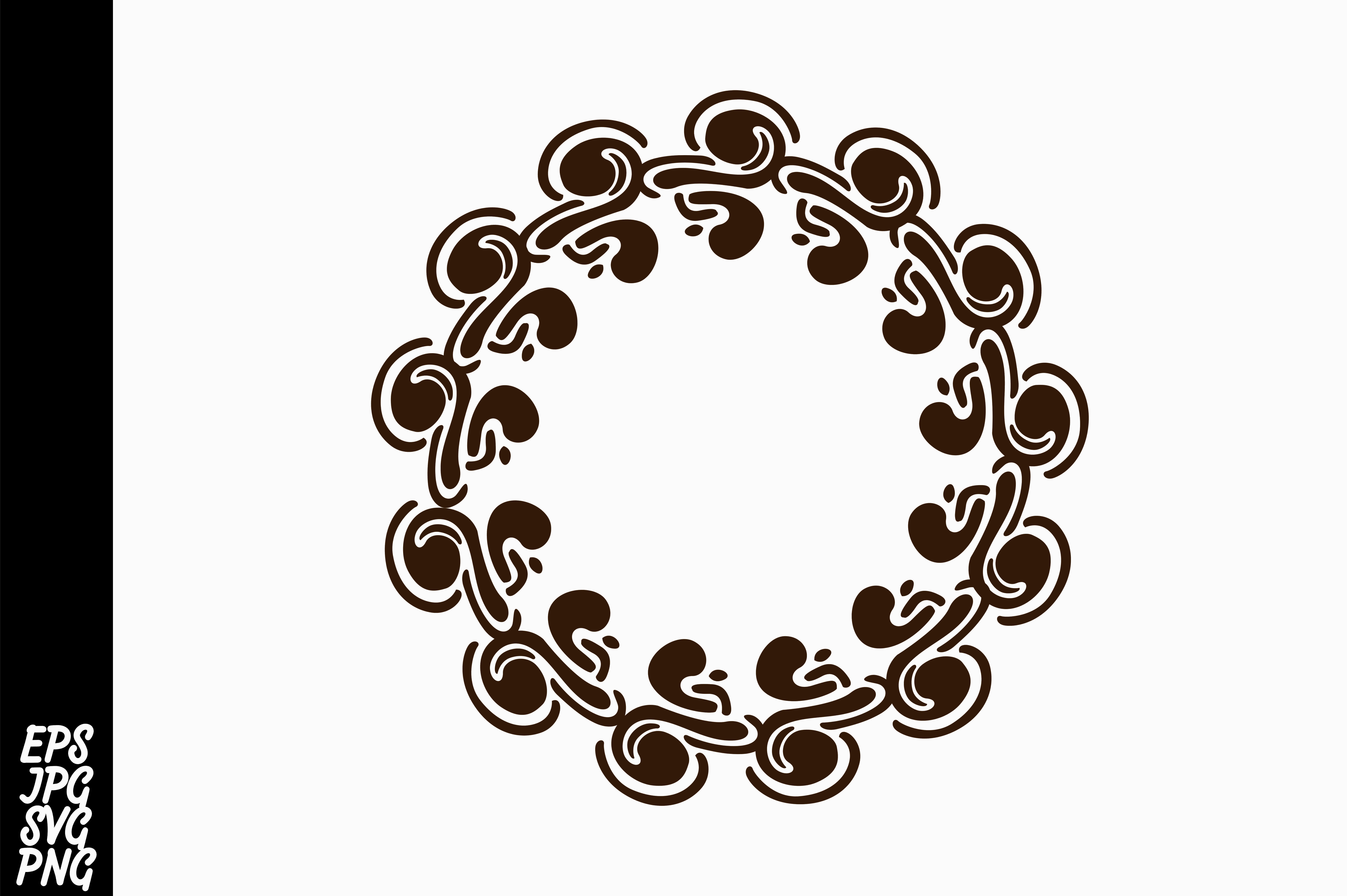 Download Free Monogram Frames Graphic By Arsa Adjie Creative Fabrica for Cricut Explore, Silhouette and other cutting machines.