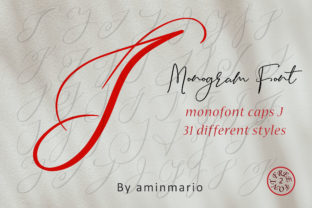 Download Free Monogram J Monofont Caps J Font By Aminmario Creative Fabrica for Cricut Explore, Silhouette and other cutting machines.