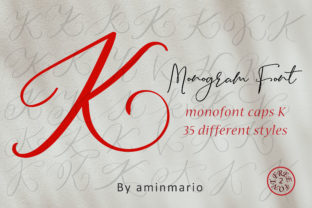 Download Free Monogram K Monofont Caps K Font By Aminmario Creative Fabrica for Cricut Explore, Silhouette and other cutting machines.